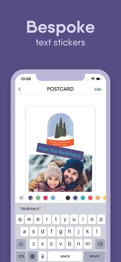 touchnote app customize postcard