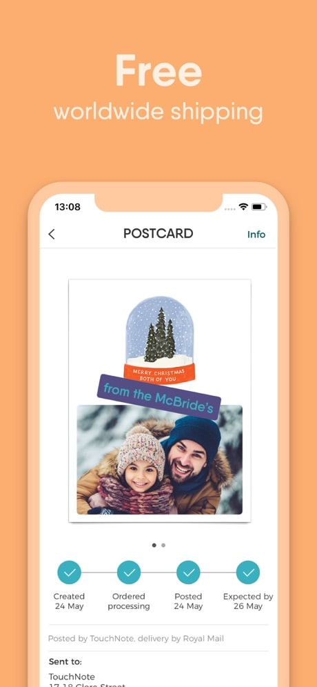 touchnote app free postcard delivery
