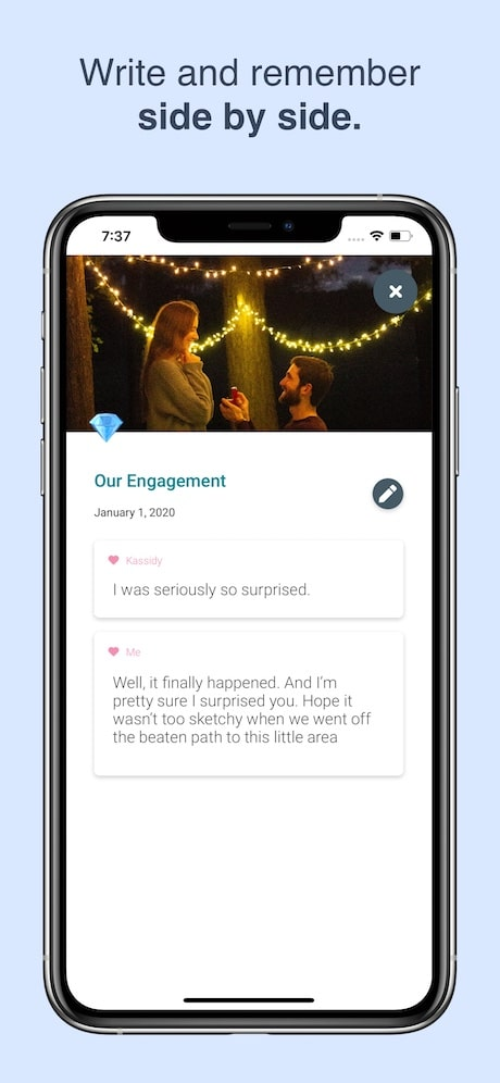 twig couples journal app