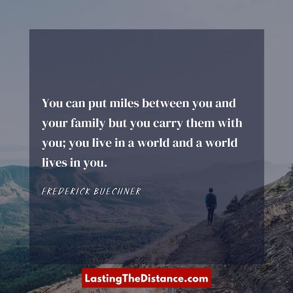 quote about distance between family instagram image