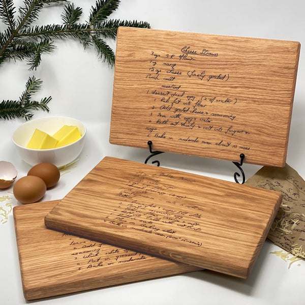 custom engraved recipe cutting boards