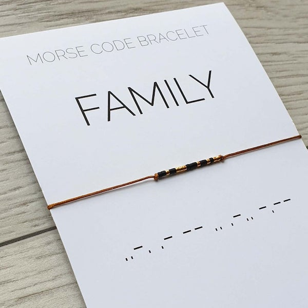family morse code bracelets