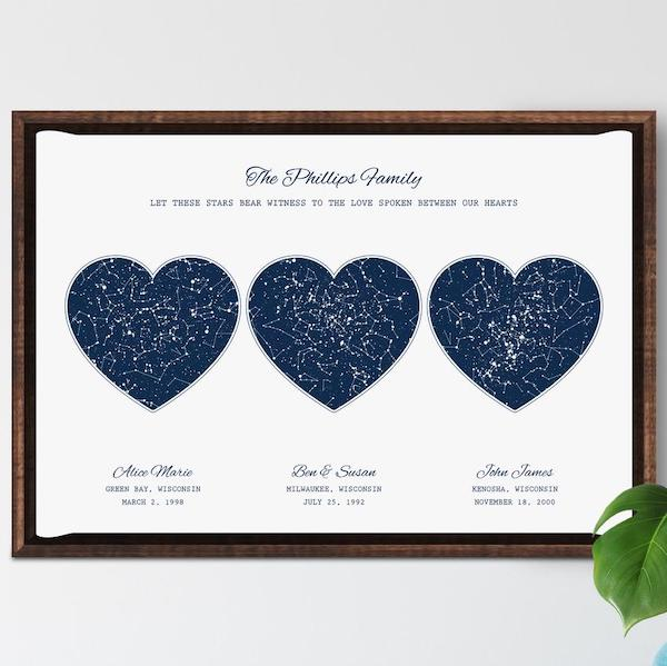 family star maps for big families