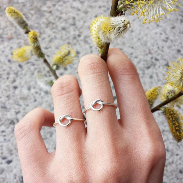 friendship knot rings