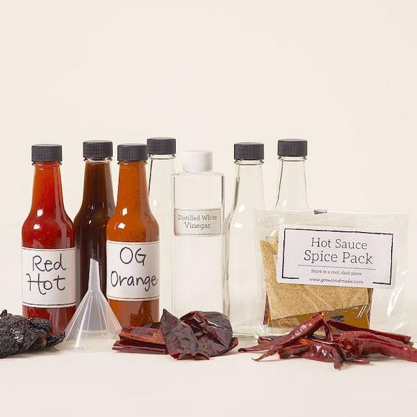 homemade hot sauce making kit