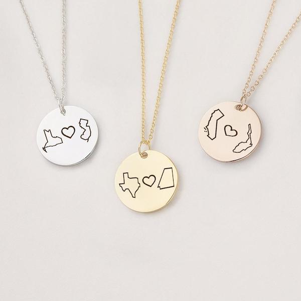 long distance friendship necklaces