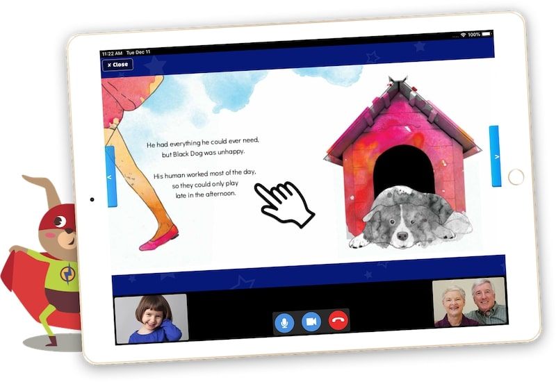 together app for grandparents and grandchildren to read together