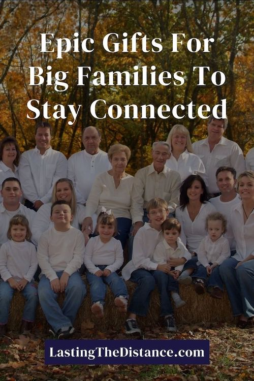 gifts for big families pinterest image