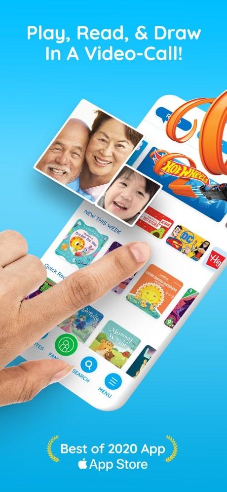 caribu reading app for grandparents and grandkids