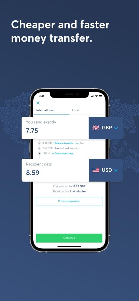 wise money transfer app